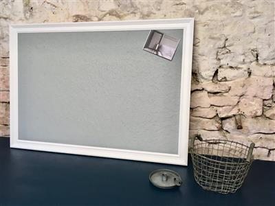 Ready To Ship - Giant Blue-Grey Pin Board w. White Frame