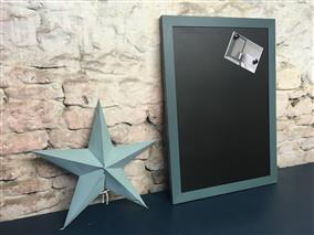 'Inchyra Blue' Extra Large Magnetic Blackboard w. Modern Frame