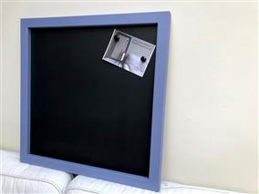 Ready To Ship - Extra Large Magnetic Blackboard with Purple Frame.