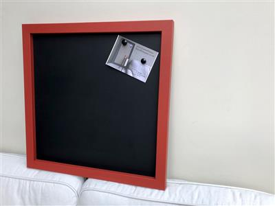 Ready To Ship - Extra Large Magnetic Blackboard with Red Frame.