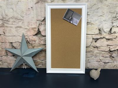 Ready To Ship - Large Cork Pin Board w. White Frame