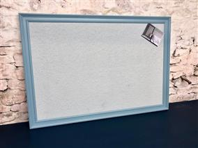 'Stone Blue' Giant Pin Board w. Blue-Grey Board & Traditional Frame