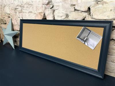 'Hague Blue' Long Cork Pin Board w. Traditional Frame