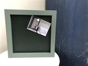 Ready To Ship - Small Magnetic Blackboard w. Green Frame