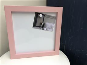 Ready To Ship - Small Magnetic Whiteboard w. Pink Frame