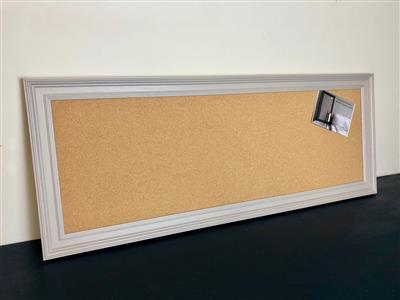 Ready To Ship - Long Cork Pin Board w. Grey Frame