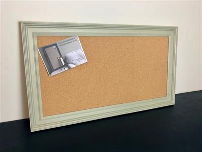 'French Gray' Large Cork Pin Board w. Traditional Frame