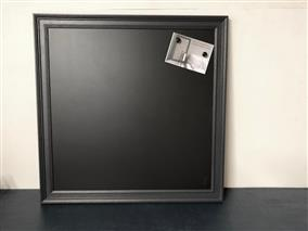 'Pitch Black' Extra Large Magnetic Blackboard w. Traditional Frame