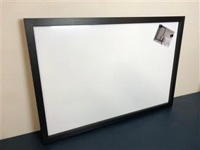 'Pitch Black' Giant Magnetic Whiteboard w. Square Frame