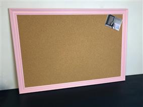 'Nancy's Blushes' Giant Cork Pin Board w. Traditional Frame