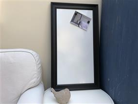 'Pitch Black' Large Magnetic Whiteboard w. Traditional Frame