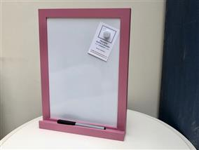 'Rangwali' Small Magnetic Whiteboard w. Slim Frame & Shelf