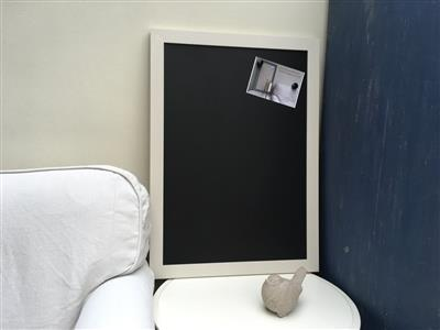 Custom Painted - Extra Large Magnetic Blackboard w. Modern Frame