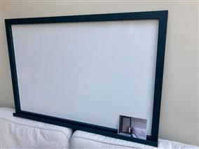 'Hague Blue' Giant Magnetic Whiteboard w. Square Frame & Shelf
