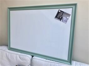 'Green Blue' Giant Magnetic Whiteboard w. Traditional Frame