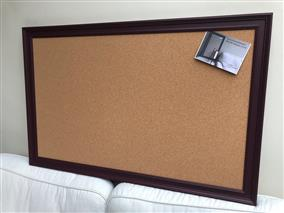 'Brinjal' Giant Cork Pin Board w. Traditional Frame