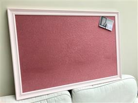 'Middleton Pink' Giant Pin Board w. Red Sundeala Board & Traditional Frame