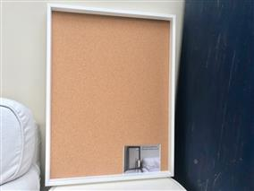 Ready To Ship - Large Cork Pin Board w. Box Frame - Choose Your Colour