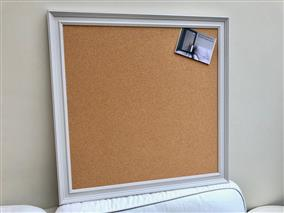 'Cornforth White' Extra Large Cork Pin Board w. Traditional Frame