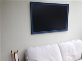 'Pitch Blue' Giant Blackboard w. Traditional Frame