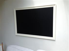 'All White' Giant Magnetic Blackboard w. Traditional Frame