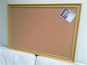 'India Yellow' Giant Cork Pin Board w. Traditional Frame