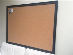 'Railings' Super Size Cork Pin Board w. Traditional Frame
