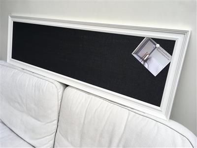 Long notice board. Hessian pin board. Hessian message board. Hessian ...