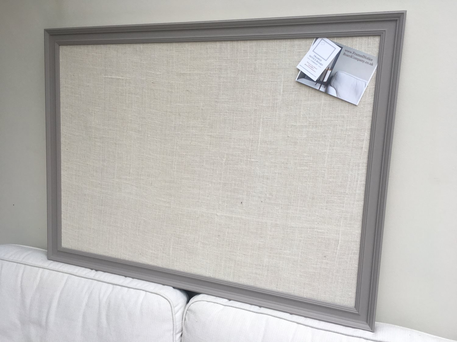 Large grey pin board fabric notice board hessian for Giant letter board