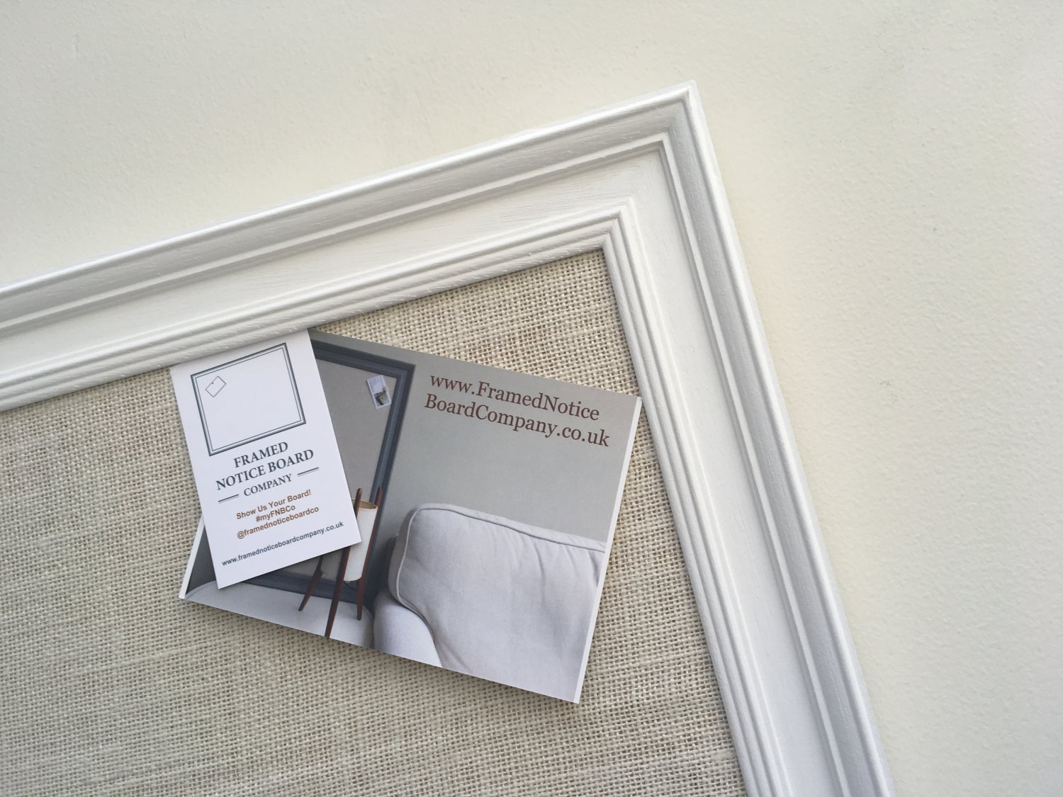 Extra Large Pin Board A Fabric Notice Board With White