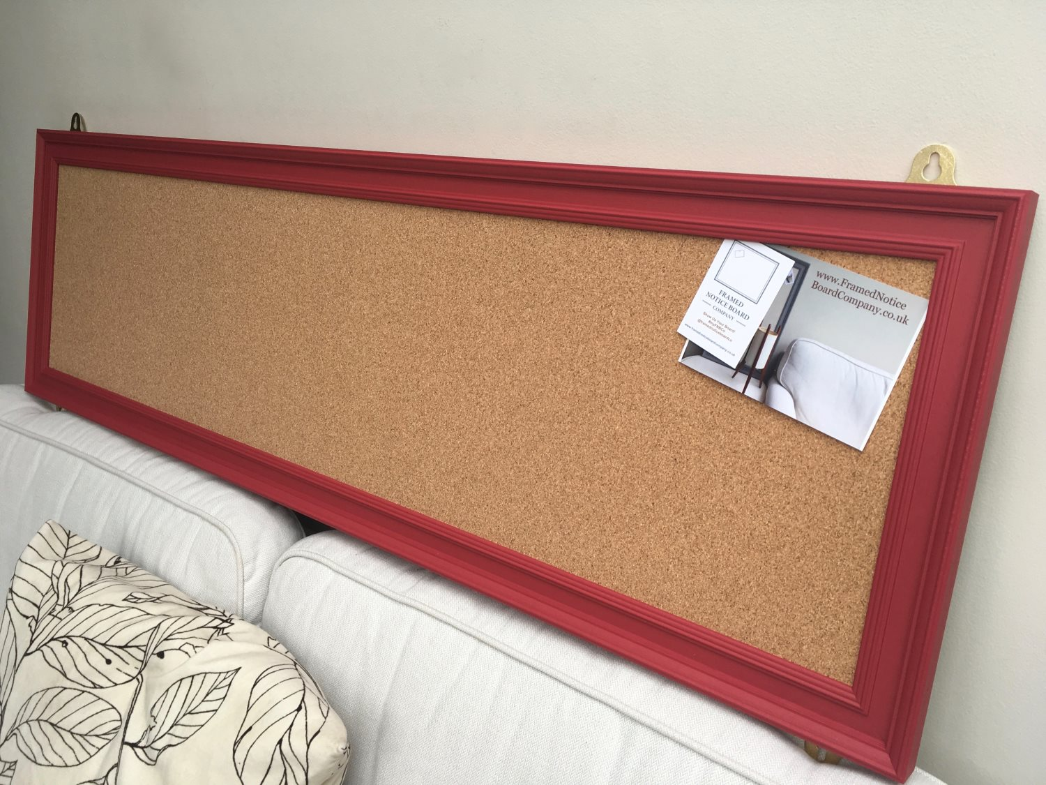 Long Pin Board A Large Cork Notice Board With Red Frame