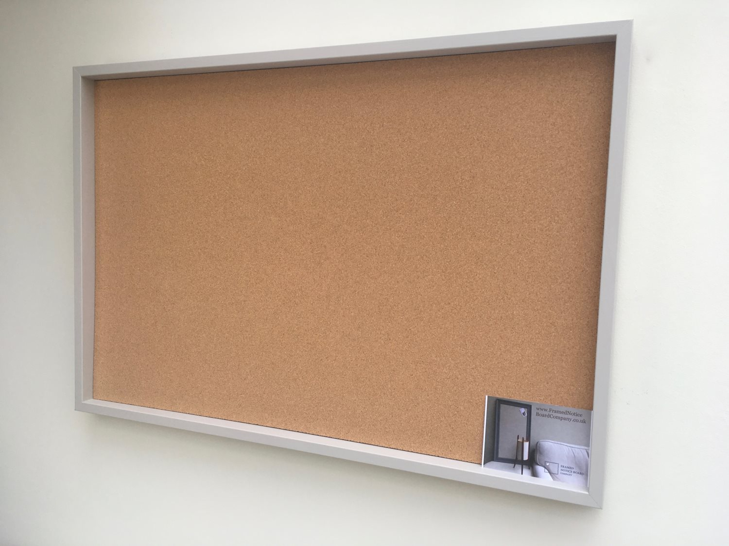 Large Pin Board A Large Cork Notice Board With Grey Frame