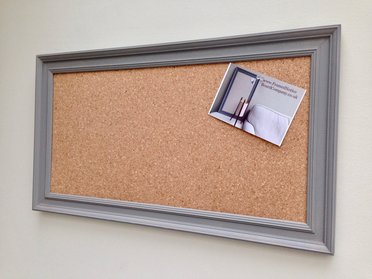 Large cork pin board cork bulletin board cork memo board for Large a frame