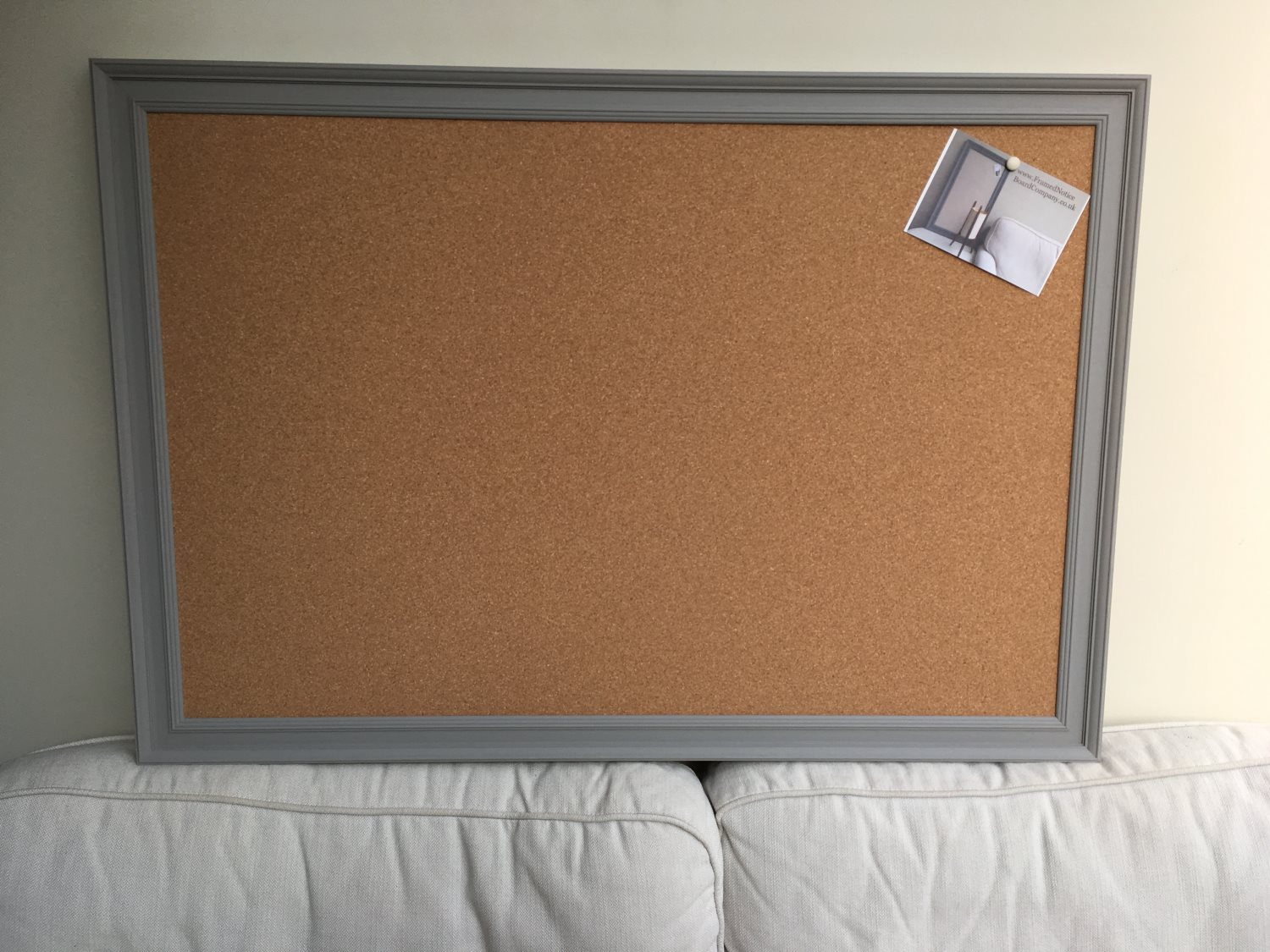 Giant Pin Board A Large Cork Notice Board With Grey Frame