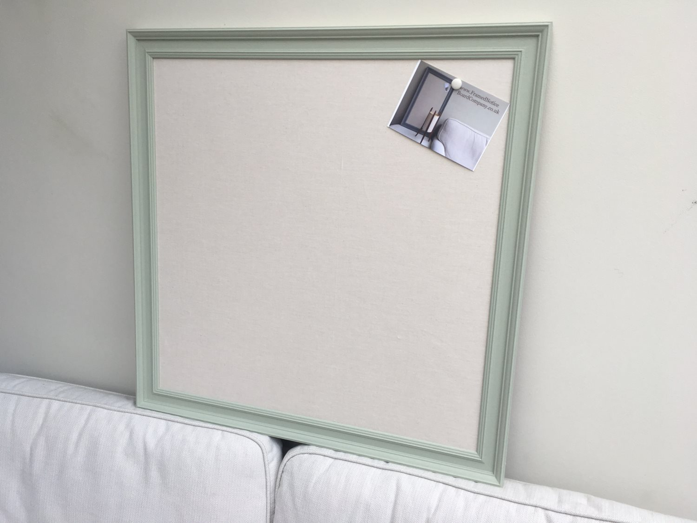 Large grey pin board. Fabric notice board. Linen bulletin board ...